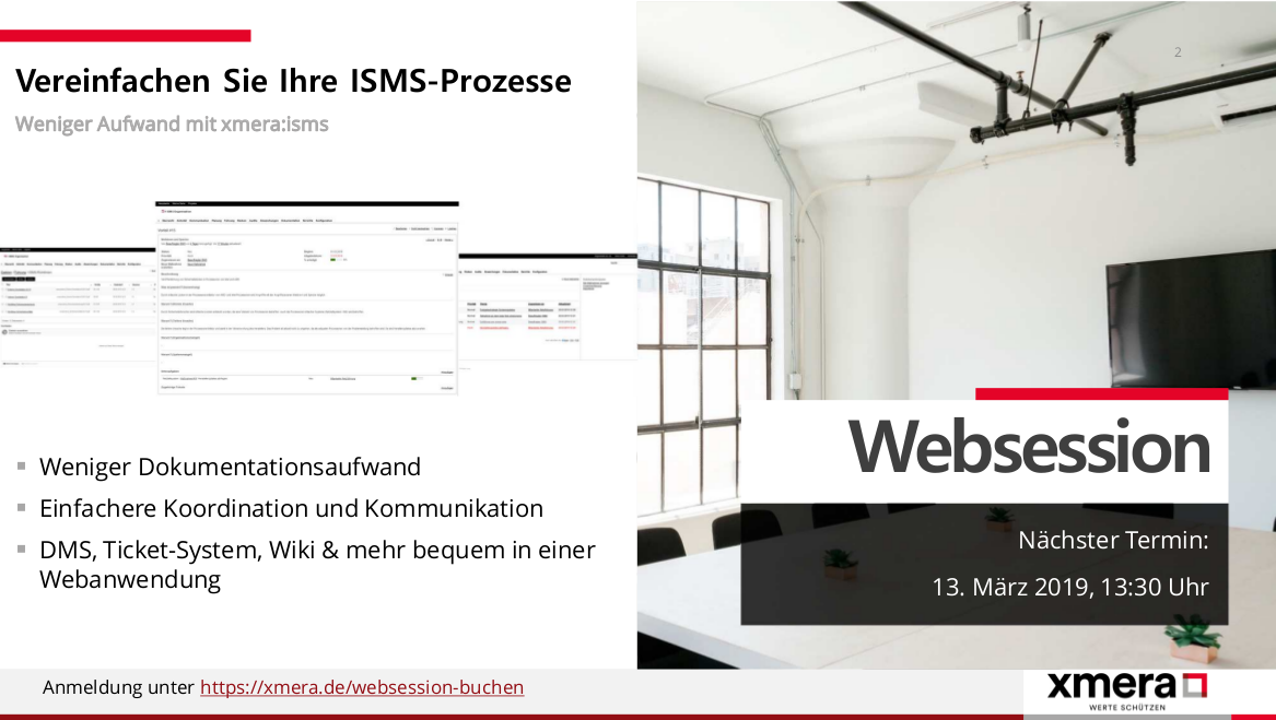 Websession März 2019